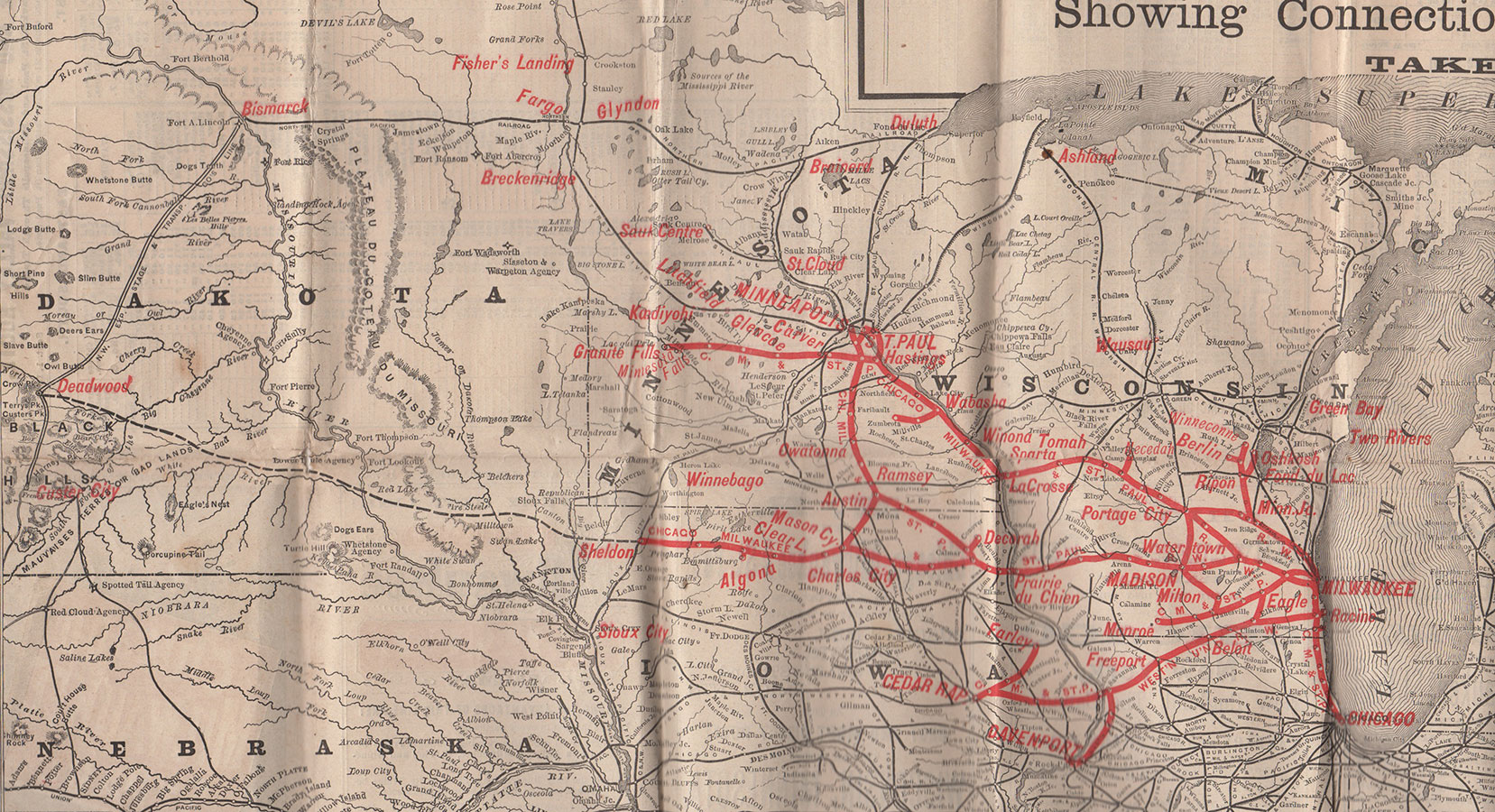 Northwest Chicago Map.Chicago Milwaukee And St Paul Railway Including Geographically