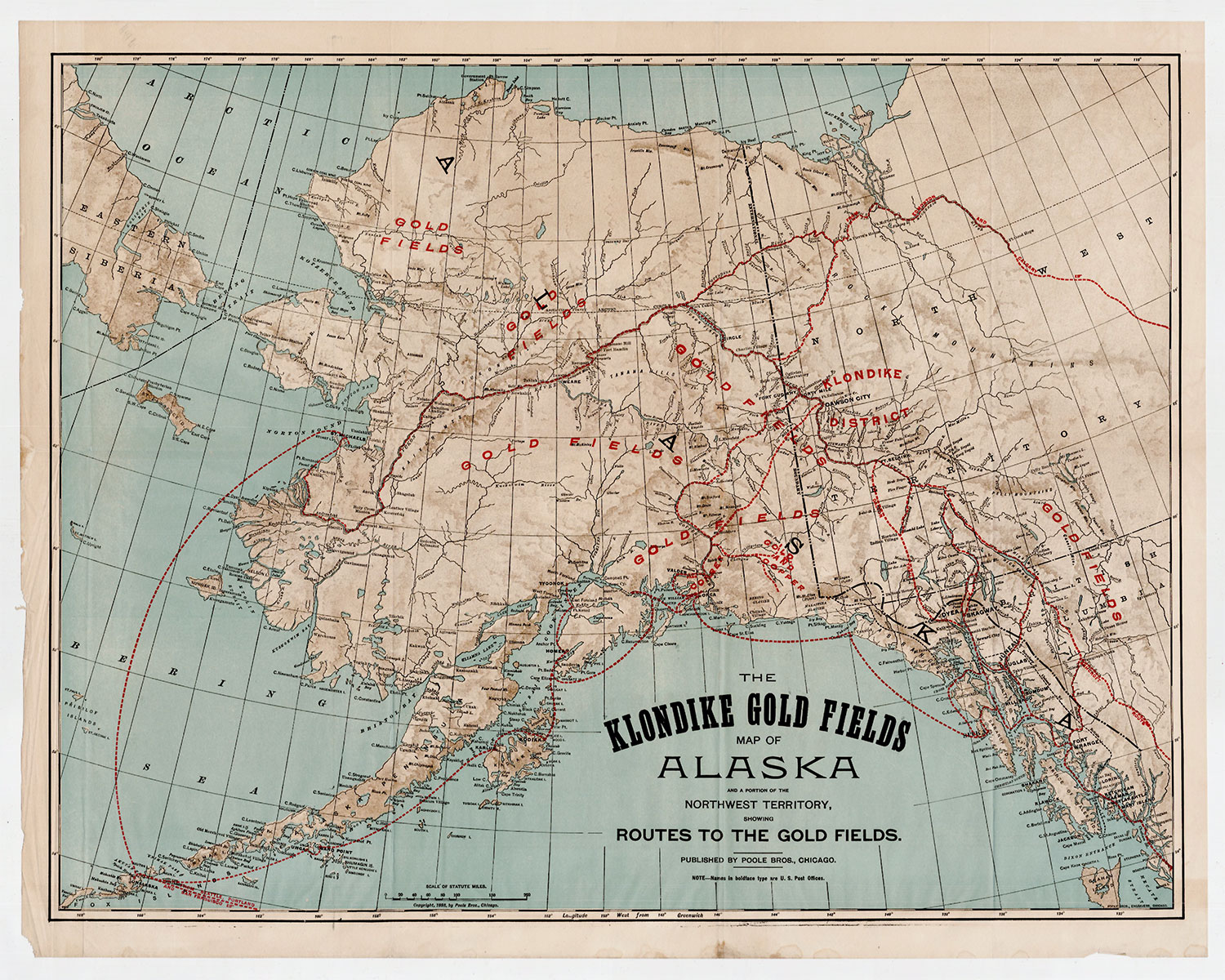 The Klon Gold Fields Map of Alaska and a Portion of the ... Gold Rush Map on z nation map, underground railroad map, the great train robbery map, mining map, the revolution map, gold trade map, klondike map, grand canyon map, gold at sutter's mill, colonial expansion map, alaska map, the 100 map, compromise of 1850 map, gold mining tools, mexican cession map, world copper mine map, missouri compromise map, us gold map, manifest destiny map, gold production map,