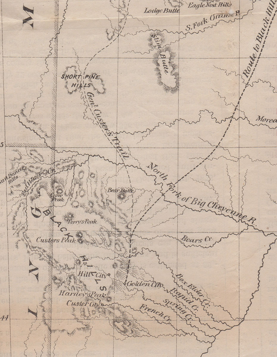 Rices Township Map of Dakota and the Black Hills  G Jay Rice