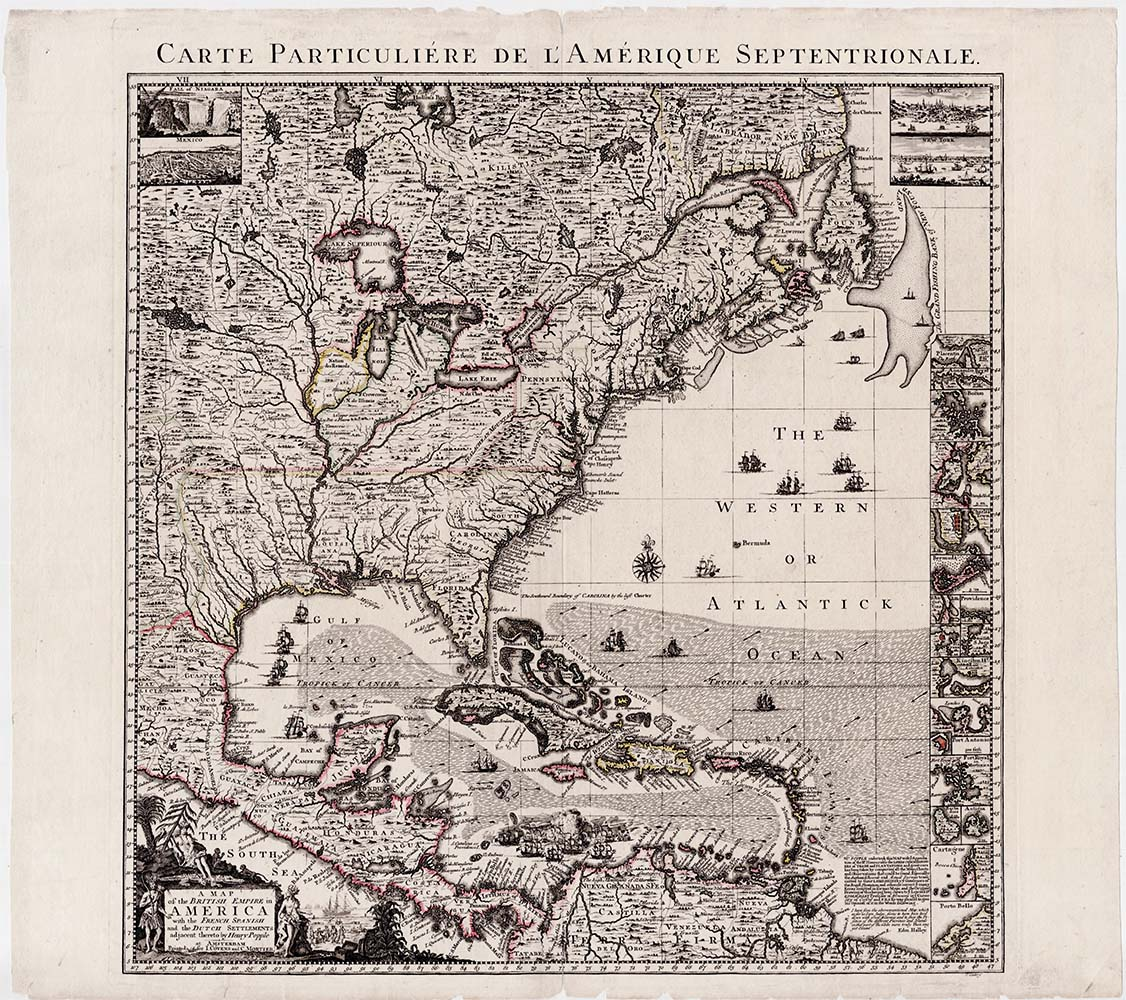 Carte Particuliere de l'Amerique Septentrionale  Secondary title: A Map of  the British Empire in America with the French, Spanish and the Dutch