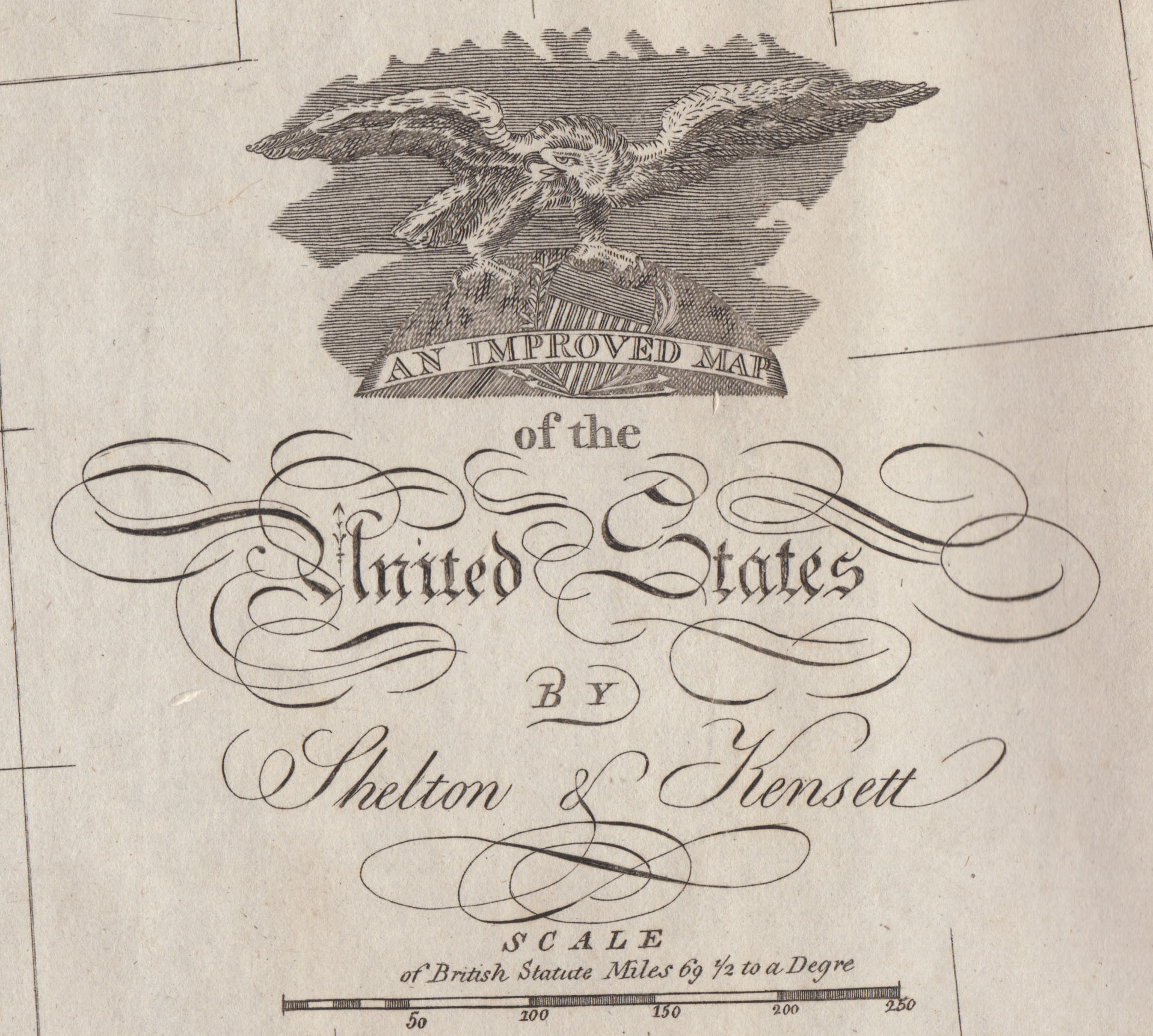 An Improved Map Of The United States Amos Doolittle Engraver - Map of america after louisiana purchase