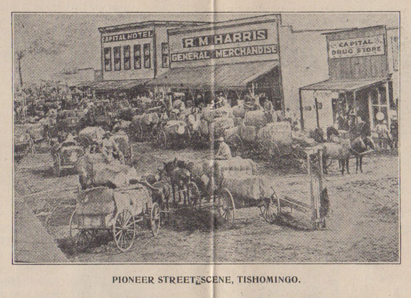 Tishomingo, Oklahoma on the Great Rock Island-Frisco System in the  Undeveloped Indian Section of the New 20th Century State  The Old Capital  of the