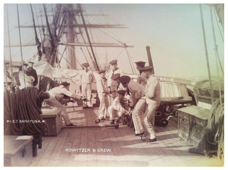 Scenes on Board A Man-of-War. U.S.S. Saratoga.
