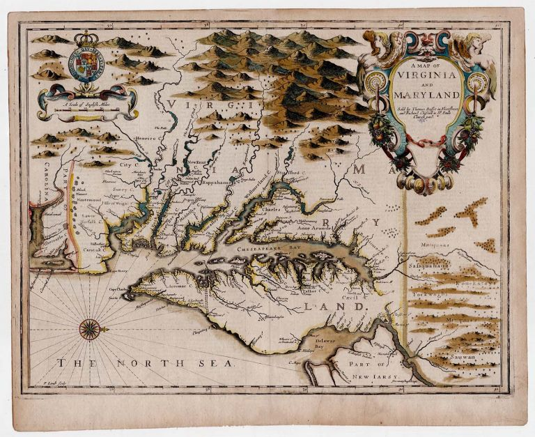 A Map of Virginia and Maryland. John Speed.