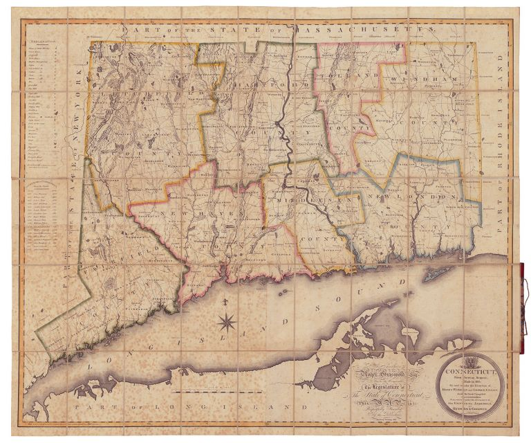 Connecticut, From Actual Survey, Made in 1811; By and under the Direction of, Moses Warren and George Gillet; And by them Compiled. Moses Warren, George Gillet.
