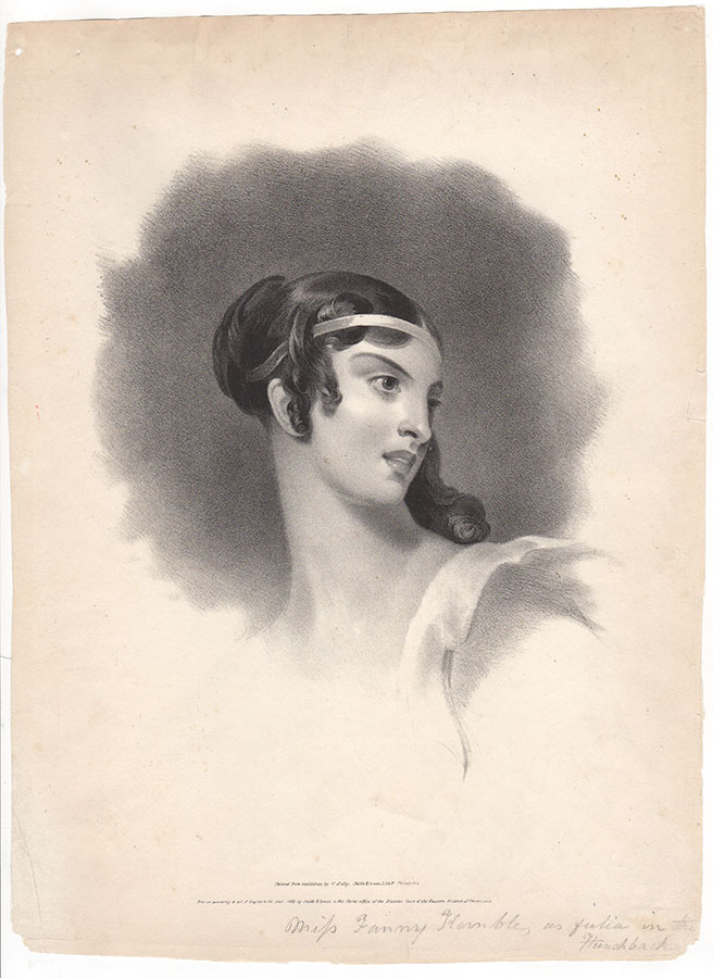 Miss Fanny Kemble, as Julia in The Hunchback | Thomas Sully, after
