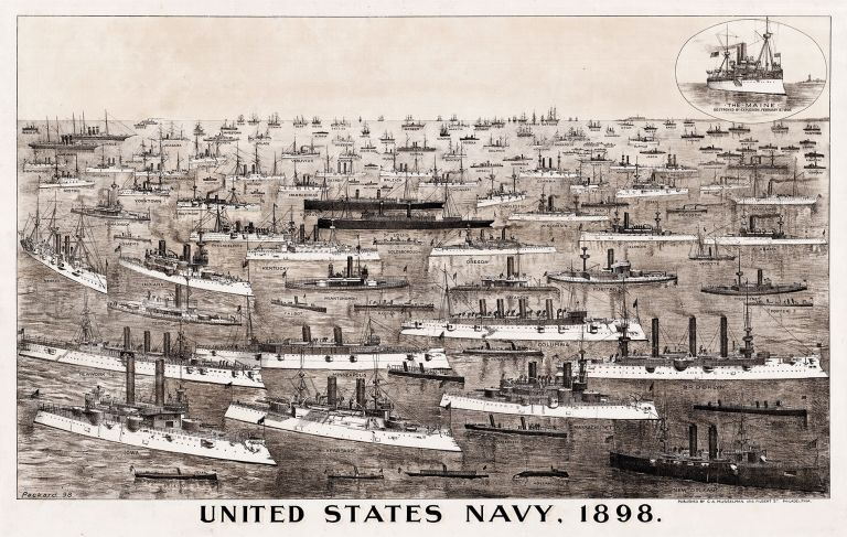 United States Navy, 1898. Herbert S. Packard, lith.