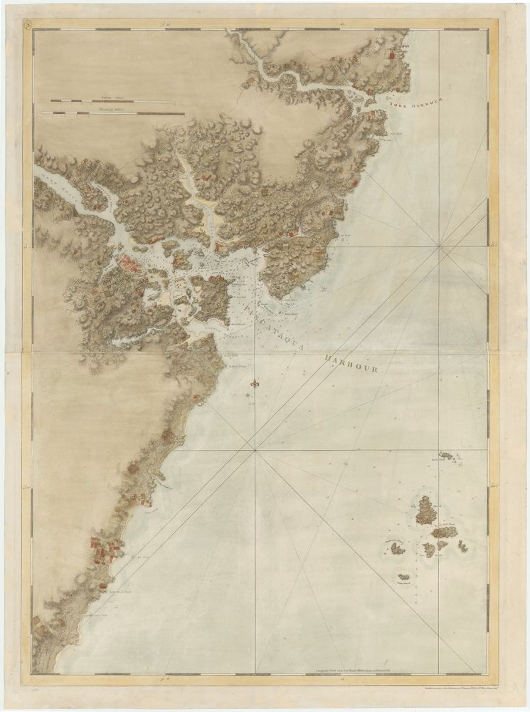 [Untitled chart of the coast line around Portsmouth, New Hampshire, from The Atlantic Neptune.]. Joseph Frederick Wallet Des Barres, publisher, Samuel Holland, lead surveyor.