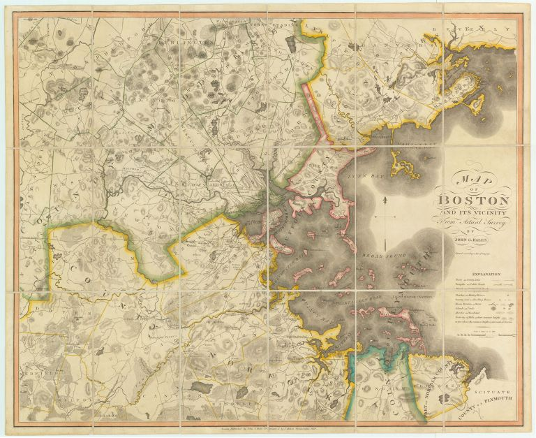 Map of Boston and Vicinity From Actual Survey. John G. Hales.
