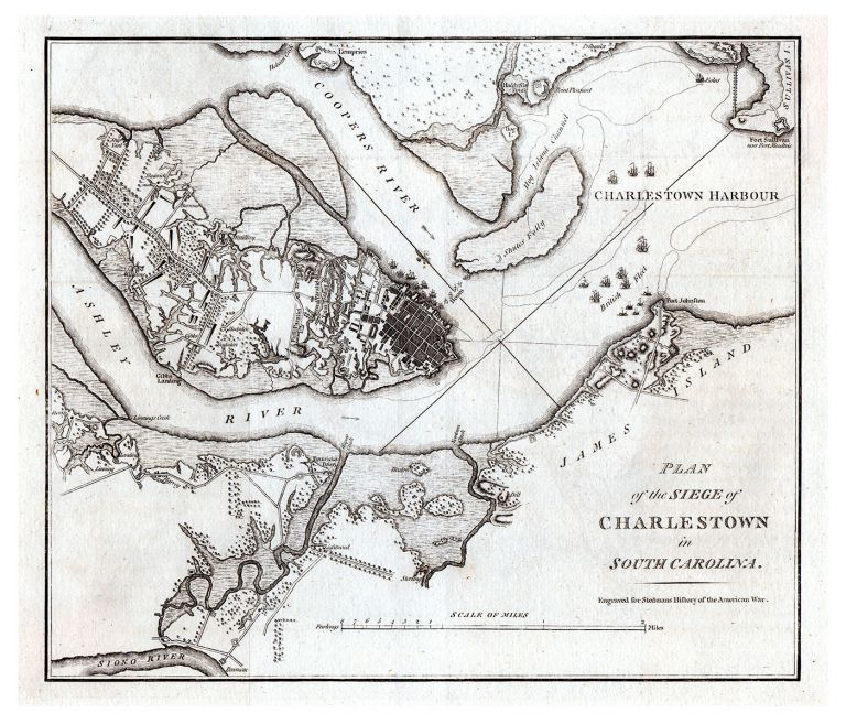 Plan of the Siege of Charlestown in South Carolina. William Faden, Charles Stedman.