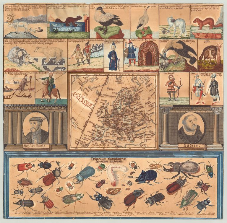 [Didactic manuscript map of Europe.]. Odo Staab.