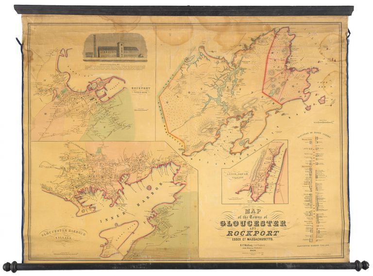 Map of the Towns of Gloucester and Rockport. H. F. Walling.