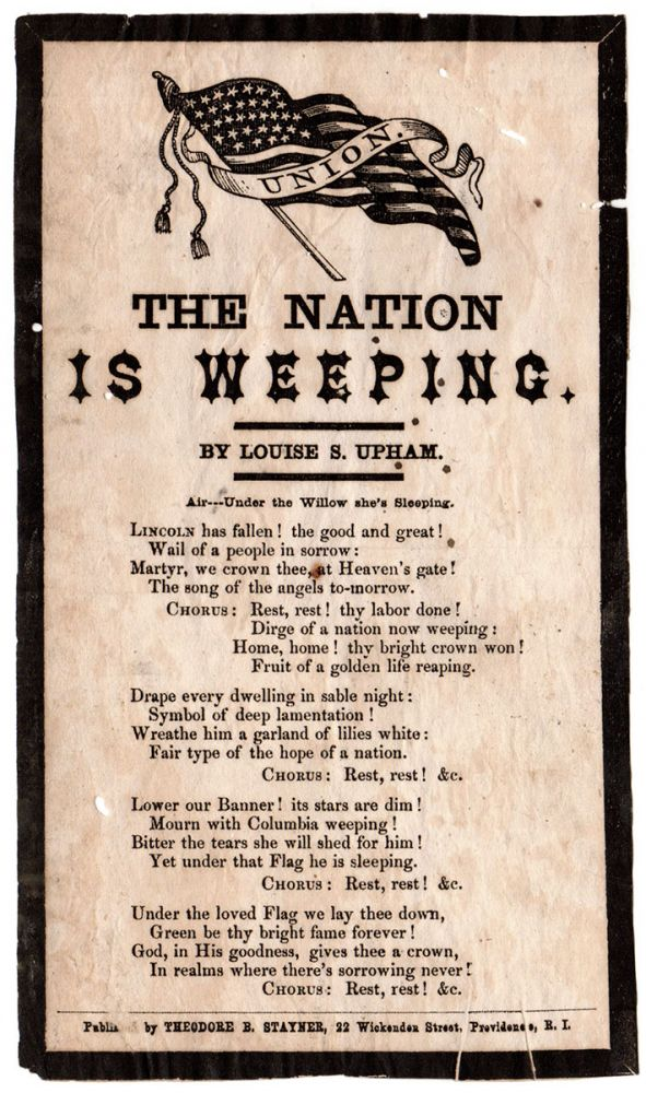 The Nation Is Weeping. Louise S. Upham.
