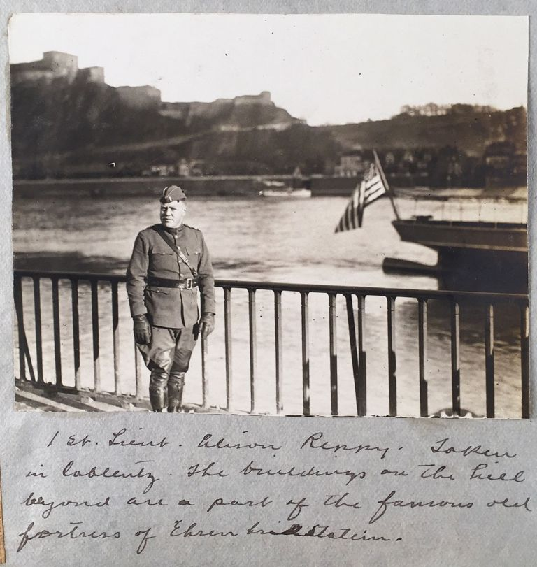 [Scrapbook of WWI Intelligence Officer and Author.] World War Scrap Book [cover-title]. Alison Reppy, First Lt, compiler.
