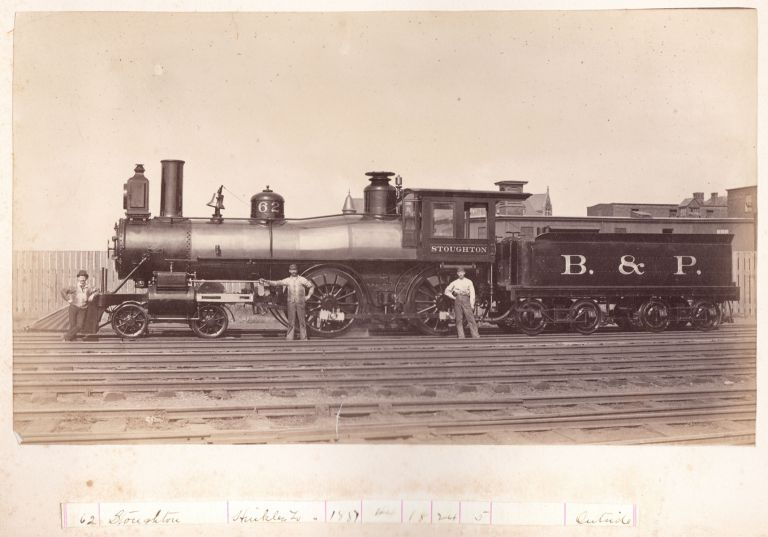 [Locomotive photo archive.] Photographs; Porte Feuille [cover-titles]. Boston, Providence Railroad.