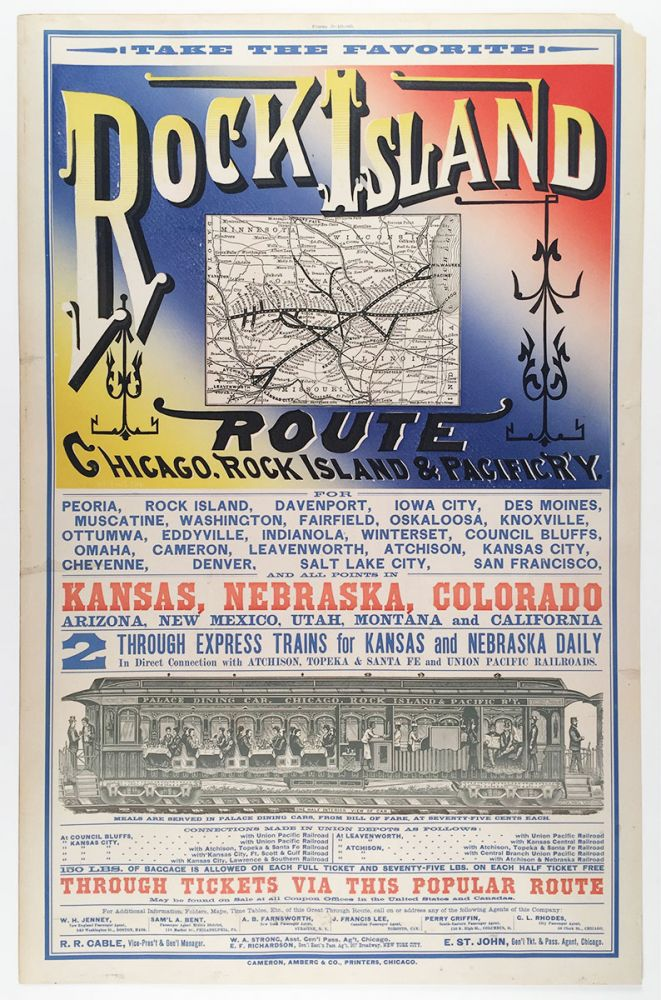 Take the Favorite Rock Island Route, Chicago, Rock Island & Pacific R'y. Rock Island Chicago, Pacific Railway.