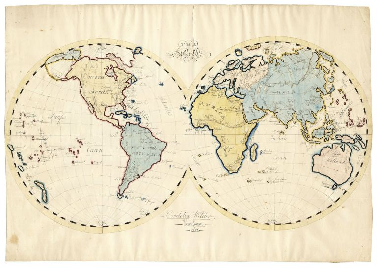 The World. [Schoolgirl Map]. Cordelia Wilder.