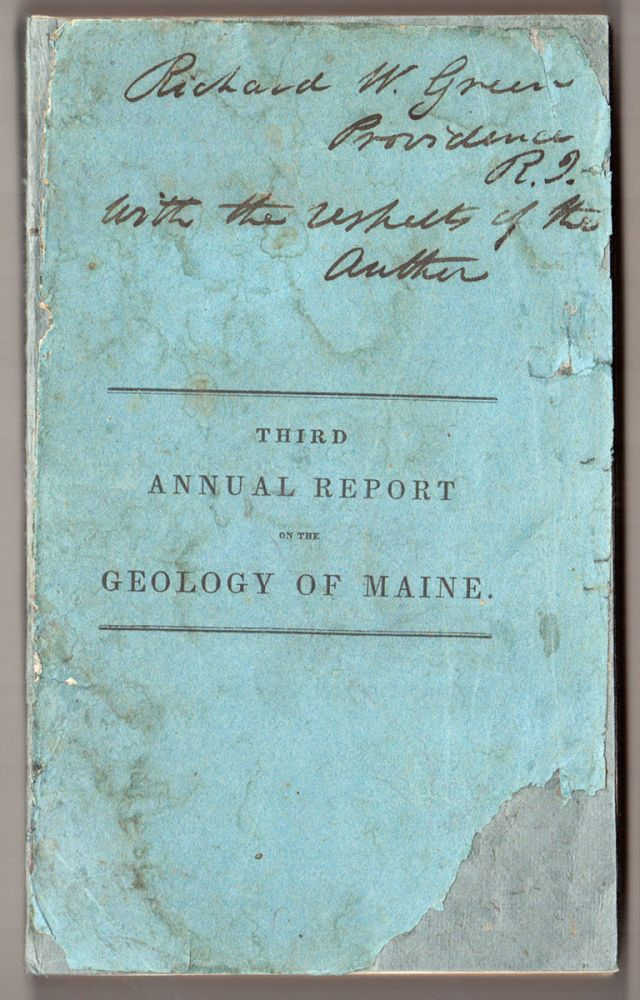 Third Annual Report on the Geology of the State of Maine. Charles T. Jackson.