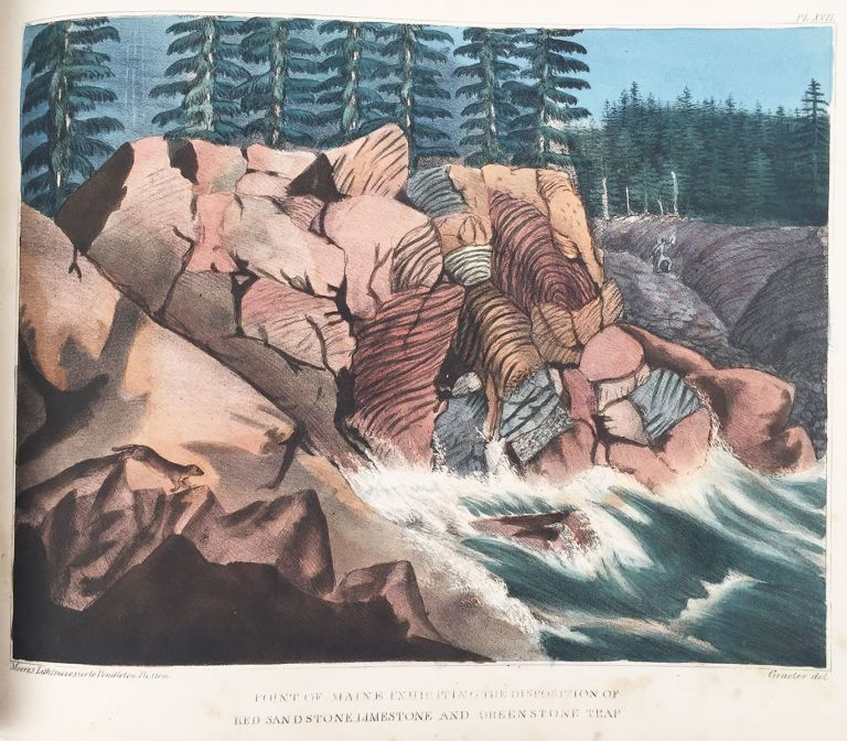 Atlas of Plates, Illustrating the Geology of the State of Maine, Accompanying the First Report on the Geology of That State. Charles T. Jackson, del Francis Graeter.