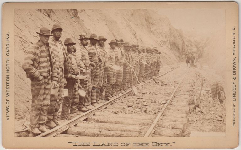 [Convicts in Line at Swannanoa]. [Series title:] Views of Western North Carolina: The Land and the Sky. Thomas H. Lindsey, photographer.
