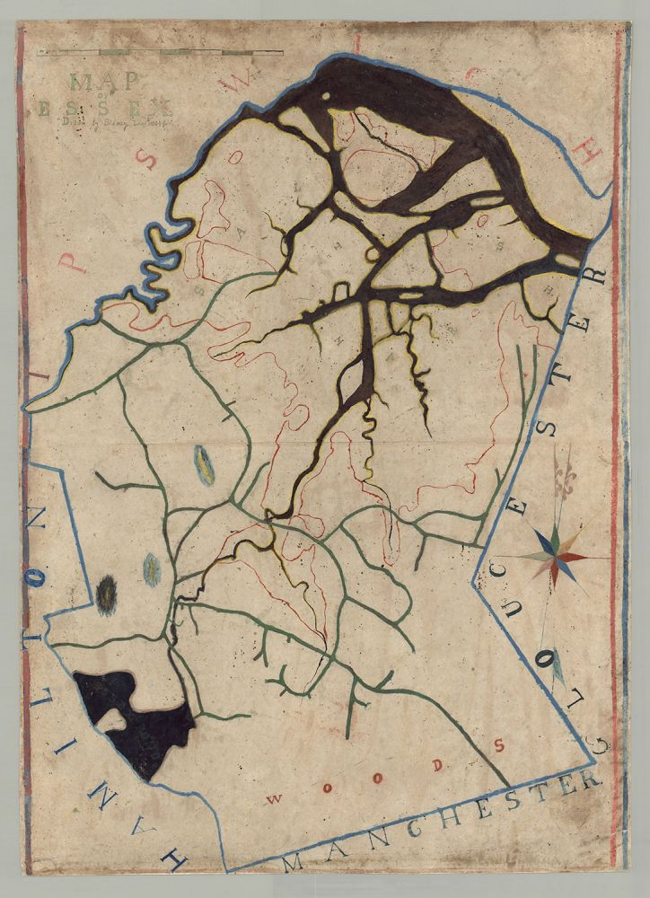 Map of Essex, [Mass.]. Sidney Low, or Lowe.