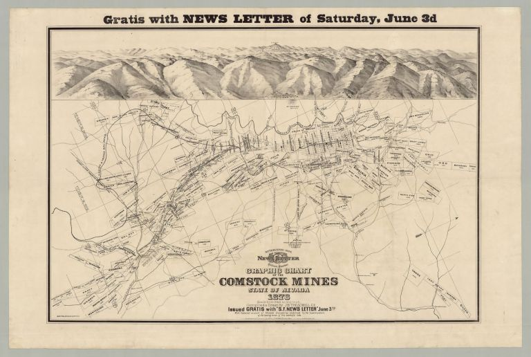 Gratis With News Letter of Saturday, June 3d…Graphic Chart of the Comstock Mines State of Nevada. . B. Treadwell, compiler and del, oseph.