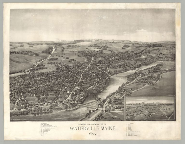 Central and Northern Part of Waterville, Maine. George E. Norris, artist.