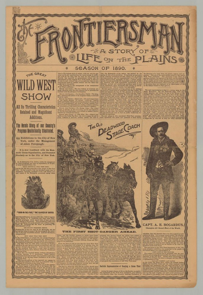 The Frontiersman. A Story of Life on the Plains. Season of 1890. Adam Forepaugh.