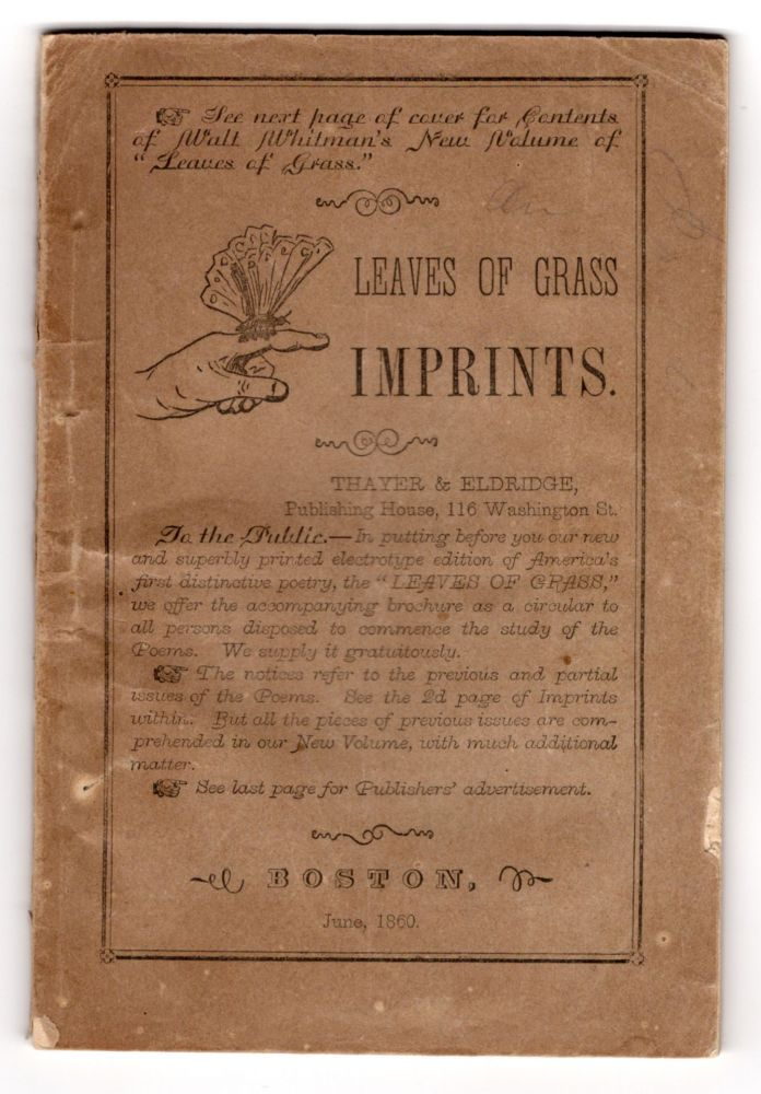Leaves of Grass Imprints. Walt Whitman, and contributor.