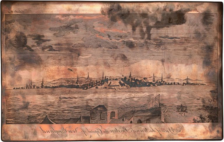 View of the Town of Boston the Capital of New England. Thomas Pownall, after, engraver James Trenchard.
