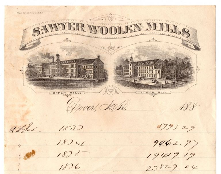 [Business archive of New Hampshire mill owner Alfred I. Sawyer.]. Alfred I. Sawyer.