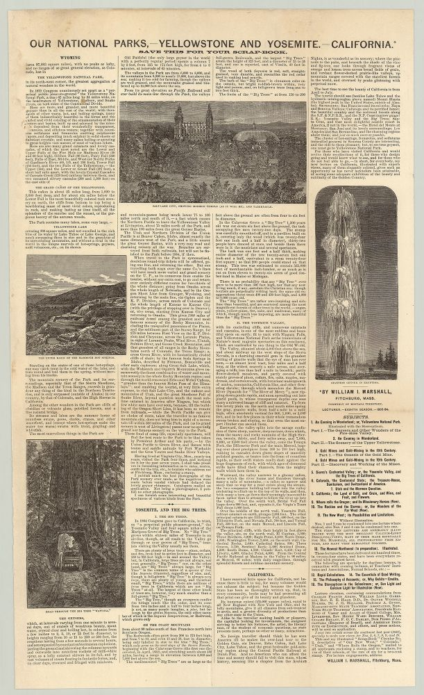 Our National Parks, Yellowstone and Yosemite.—California. William I. Marshall.
