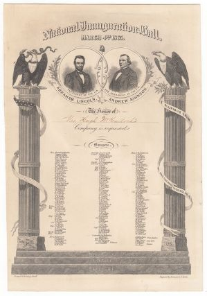 National Inauguration Ball. March 4th, 1865.
