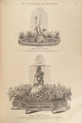 """Catalogue """"H,"""" Illustrating Fountains, Ground Basins, Basin Rims, Jets, etc. manufactured by the J.L. Mott Iron Works offices and Showrooms, 86, 88 and 90 Beekman Street, New York and 311 and 313 Wabash avenue, Chicago, Ill"""