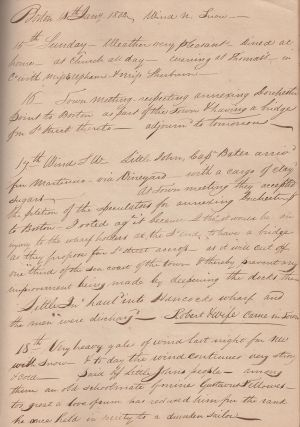 [Manuscript Journal of a Boston Merchant]. Ralph Haskins.