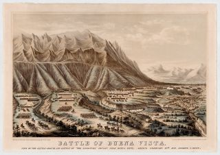 "Battle of Buena Vista. View of the Battle-Ground of ""The Angostura"" Fought Near Buena Vista, Mexico February 23rd. 1847. Frances Flora Bond Palmer, Fanny after Joseph Horace Eaton."