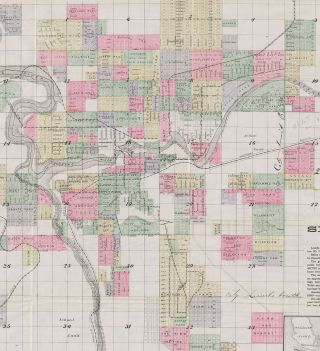 Whitney's Map of the City of Spokane Falls and Environs, Washington. Compiled by John K. Ashley Civil Engineer.