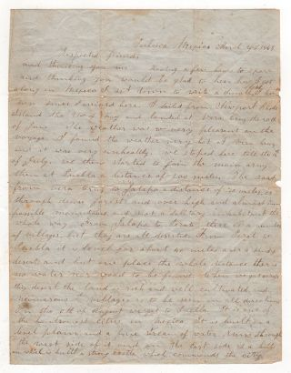 [Mexican-American War Letter from the Field]. Isaac Grace.