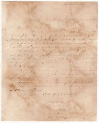 [Letter of Invitation to Sam Houston]. John Willis.