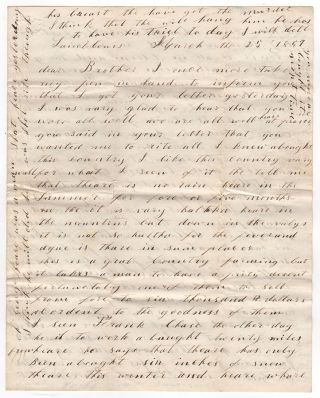 [Two California gold rush letters].