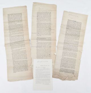 [Galley Proof of an Anti-Grant Speech Delivered by General John A. McClernand before the Great Citizen's Convention at Springfield, Illinois, January 8th, 1876]. John A. McClernand.
