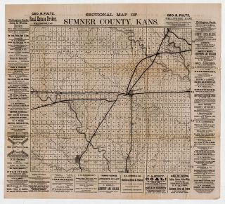 Sectional Map of Sumner County Kans.