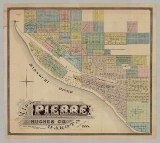 Map of Pierre Hughes Co. Dakota. Carefully compiled from the official records by Wm. C. Garrett, Draughtsman.