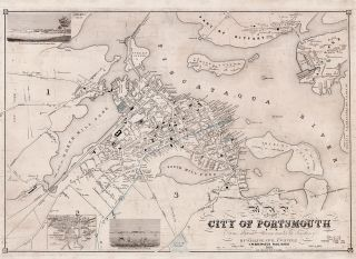 Map of the City of Portsmouth N. H. H. F. Walling, Civil Engineer.