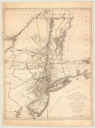 Map of the Province of New York. Claude Joseph Sauthier.