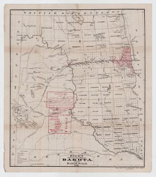 Rice's Township Map of Dakota and the Black Hills. G. Jay Rice