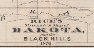 Rice's Township Map of Dakota and the Black Hills.
