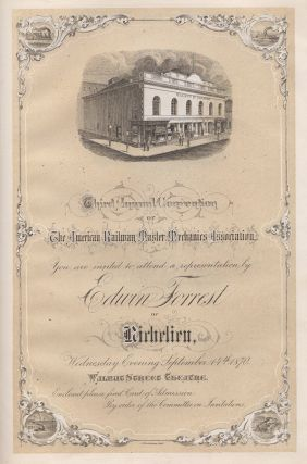 Complimentary Entertainments Given to the American Railway Master Mechanics Association by Their Friends in the City of Philadelphia at Their Third Annual Convention, Septr. 14th, 15th, 16th, & 17th, 1870.