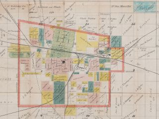 Map of Sedalia, Mo., and Adjacent Lands.