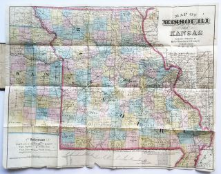 Map of Missouri and Kansas. Rufus Blanchard.